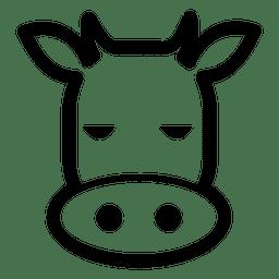 Traço de avatar de vaca