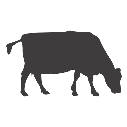 Cow grazing silhouette Transparent PNG
