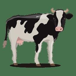Granja de ilustración de vaca