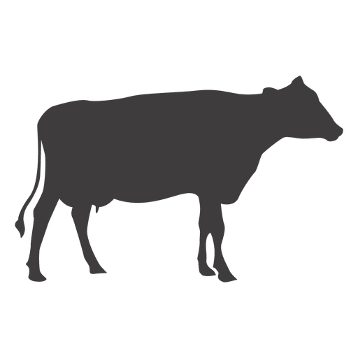 Cow silhouette vector Transparent PNG
