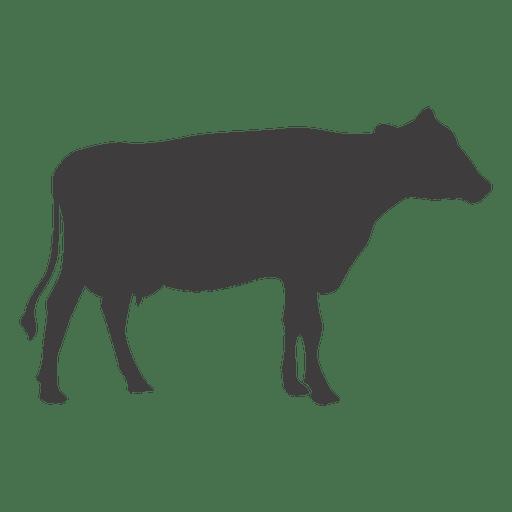 Vector silueta de vaca