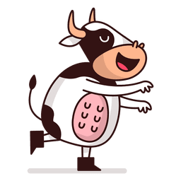 Cow standing cartoon