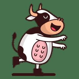 Vaca de pie de dibujos animados