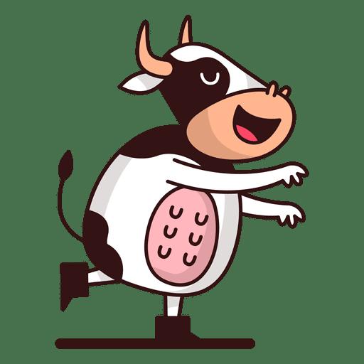 Vaca em pé dos desenhos animados Transparent PNG