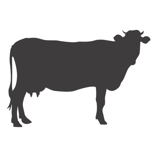 Cow standing silhouette Transparent PNG