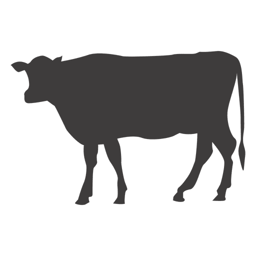 Cow walking silhouette Transparent PNG
