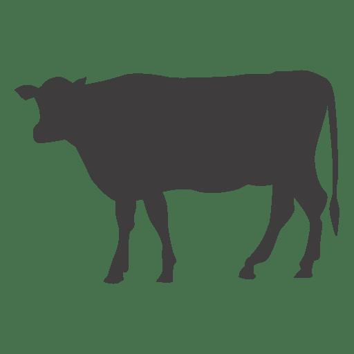 Vaca caminando silueta Transparent PNG
