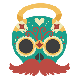 Máscara do dia do morto