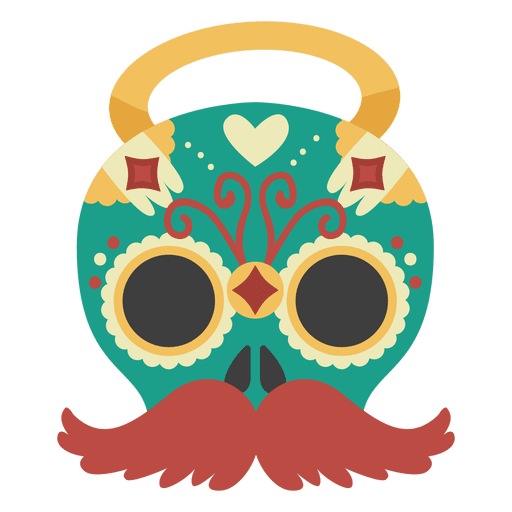 Day of the dead man mask