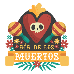 Day of the dead maracas logo