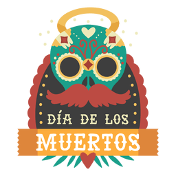 Logotipo de la máscara del día de los muertos