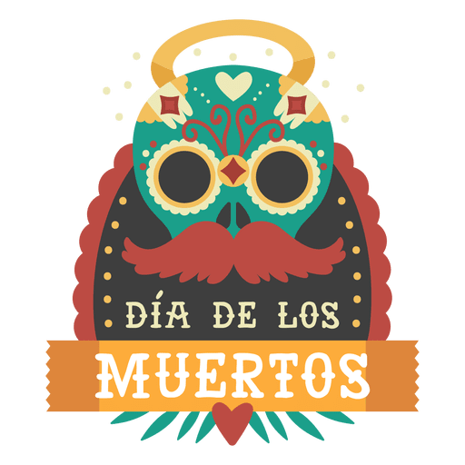 Day of the dead mask logo Transparent PNG