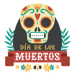 Day of the dead skull logo