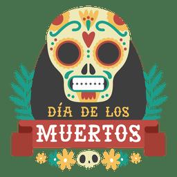 Logotipo del día del cráneo muerto.