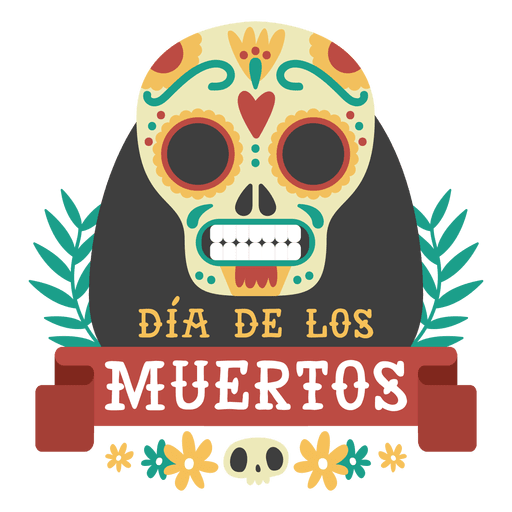 Day of the dead skull logo Transparent PNG