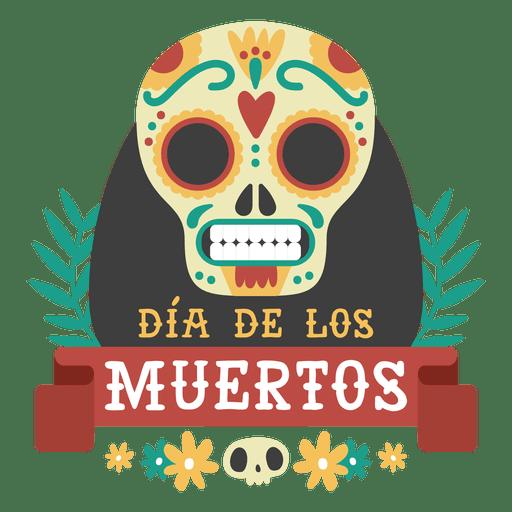 Dia de los muertos logo calavera