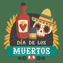 Logotipo da tequilla do dia do crânio morto