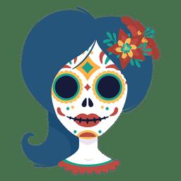 Máscara del día de la mujer muerta.