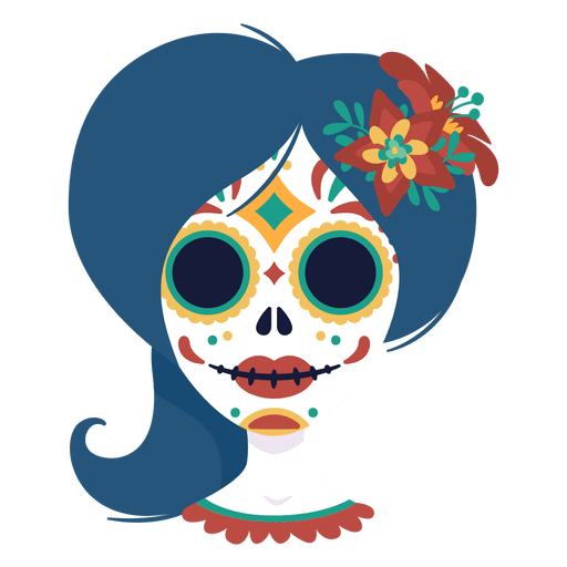 Day of the dead woman mask Transparent PNG