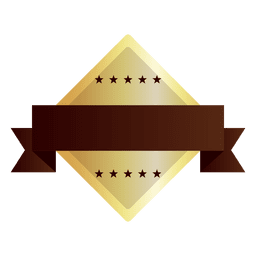 Diamond shape golden badge