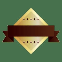 Símbolo dourado de forma de diamante