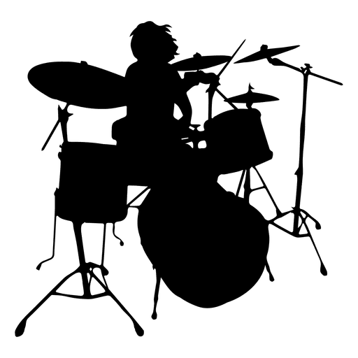 silhueta solo de baterista baixar png  svg transparente drum set clipart black and white drum set clip art bing images