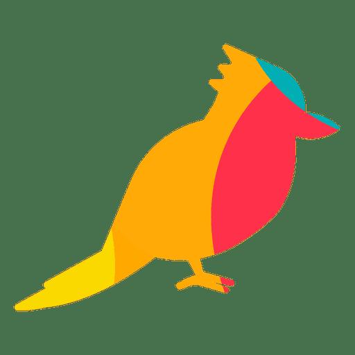 Exotische Vogelzusammenfassungsfarbe Transparent PNG