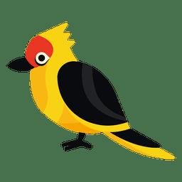 Ilustração exótica do pássaro