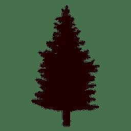 Vector de árbol de abeto