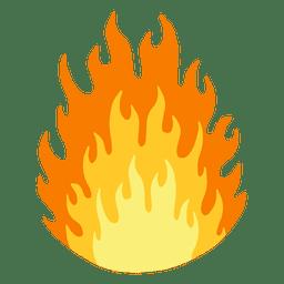 Desenho animado de fogo