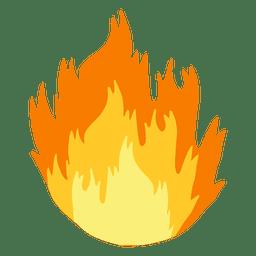 Dibujos animados de llama de fuego