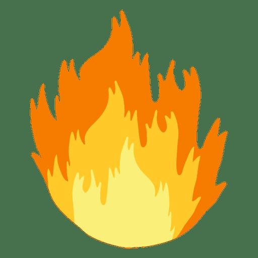 Fire flame cartoon
