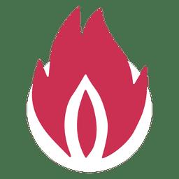 Silueta de llama de fuego