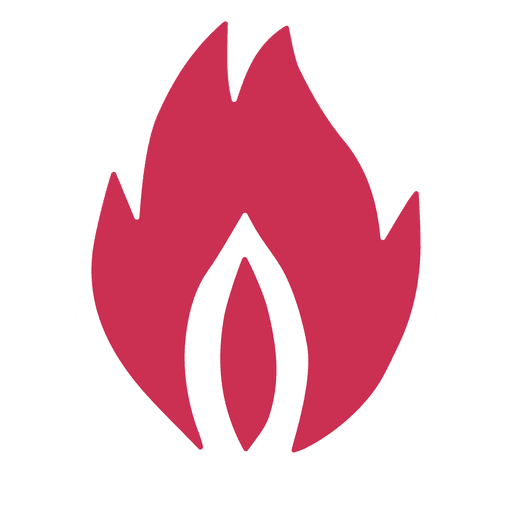Fire flame silhouette Transparent PNG