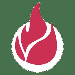 Icono de vector de fuego