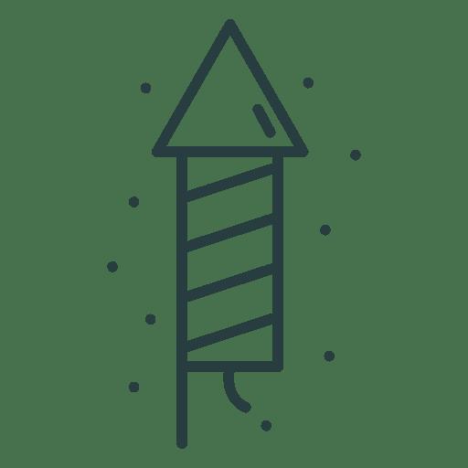 Icono de cohete de fuegos artificiales