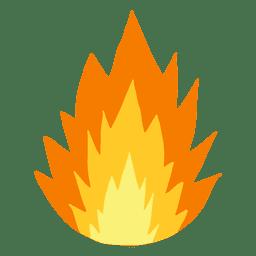 Desenhos animados de chama