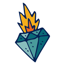 Flammender Diamant