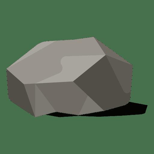Flat stone illustration Transparent PNG