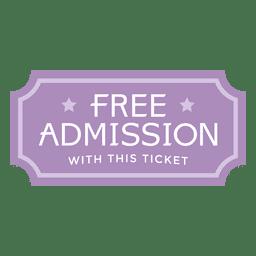 Bilhete de entrada gratuita