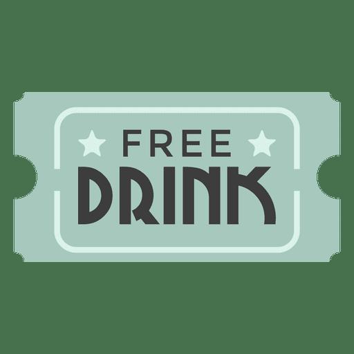 Bilhete de bebida grátis Transparent PNG