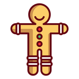 Gingerbread man illustration