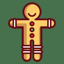 Ilustración de hombre de pan de jengibre