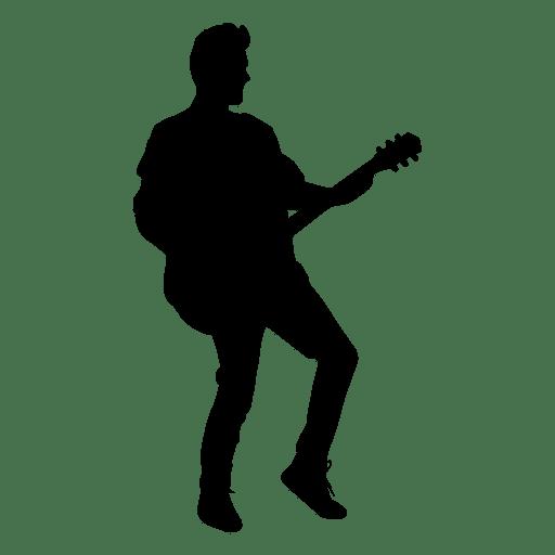 guitarist silhouette transparent png   svg vector singer clip art images singers clip art free