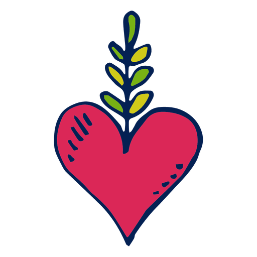 Hand drawn heart day of the dead Transparent PNG