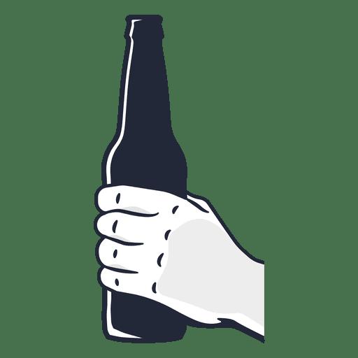 Hand holding beer bottle Transparent PNG