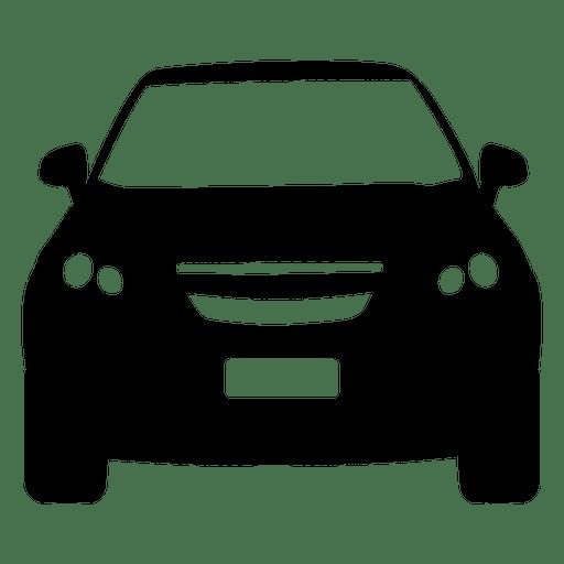 Silhueta de vista frontal de hatchback Transparent PNG