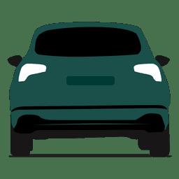 Vista trasera hatchback
