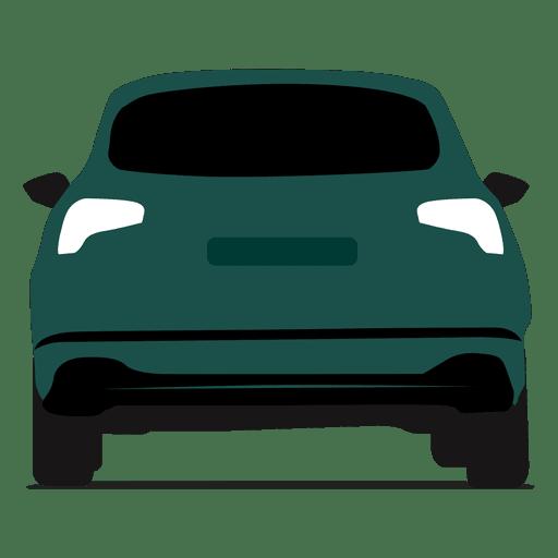 Vista trasera hatchback Transparent PNG