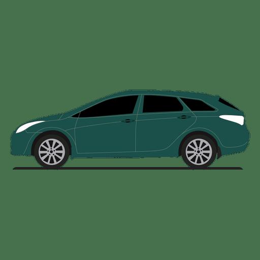 Vista lateral hatchback Transparent PNG